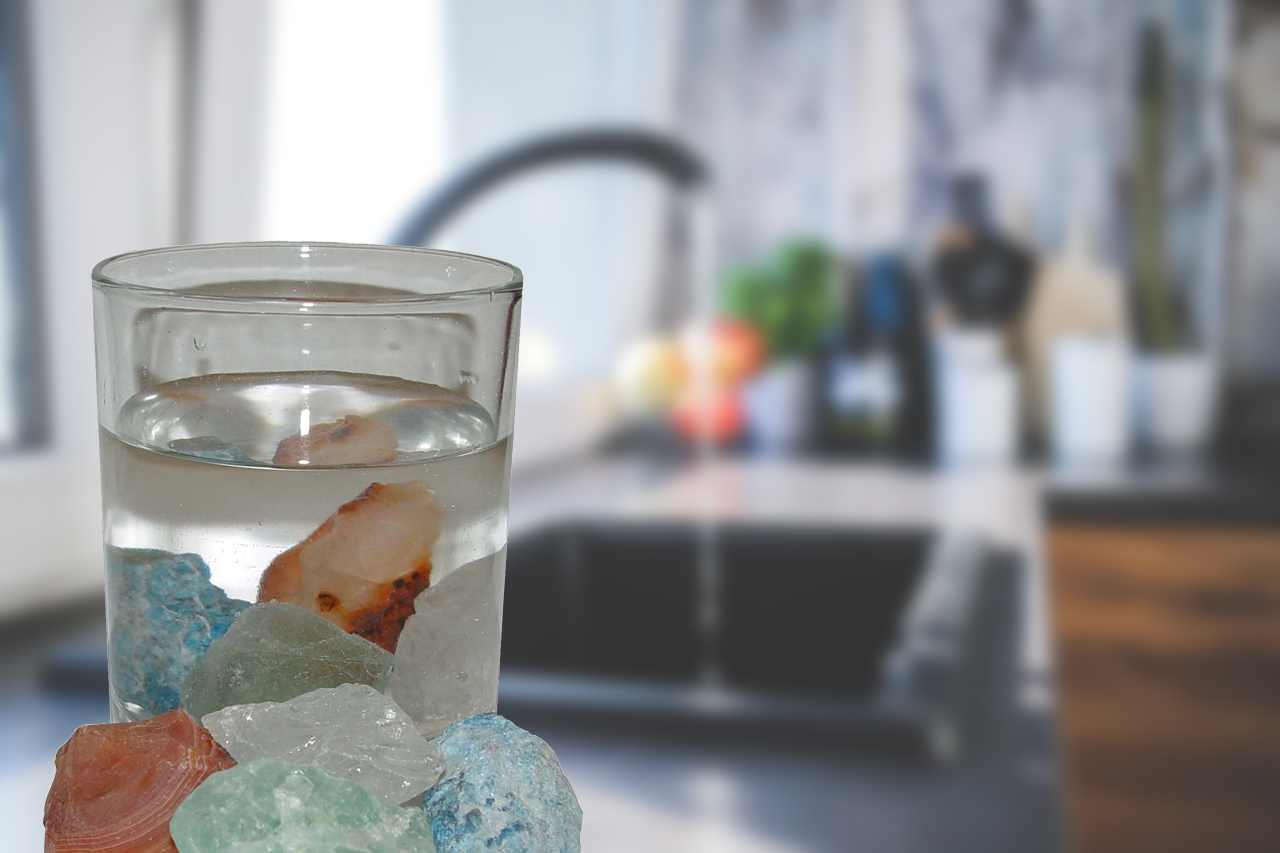Heilsteine im Trinkwasser